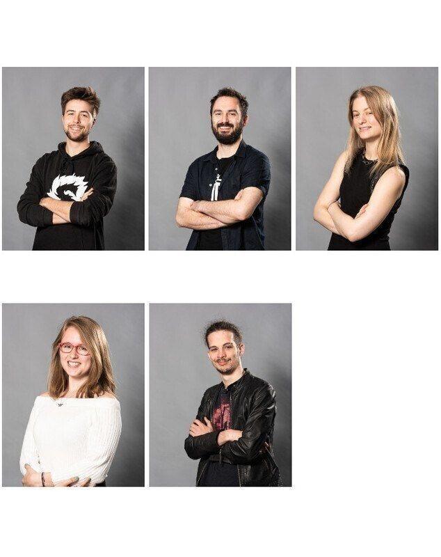 Retrato de Quentin Simon, Guillaume Chappe, Marie Delpierre, Claire Carcopino, Renaud Roquette