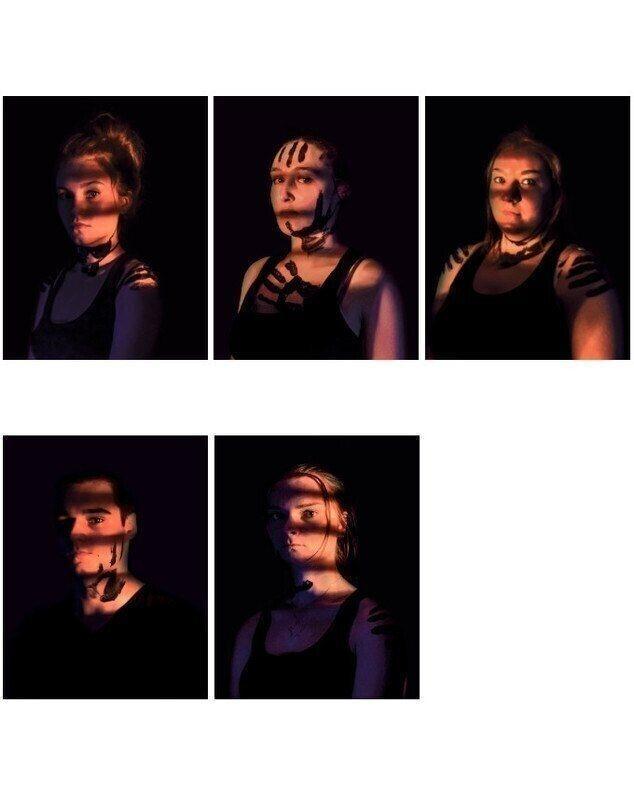 Retrato de Chloé Delestrain, Morrigane Haudry, Adeline Leleu, Owen Masson, Philippine Singer
